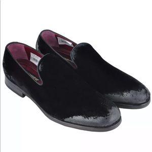Dolce & Gabbana distressed velvet shoes